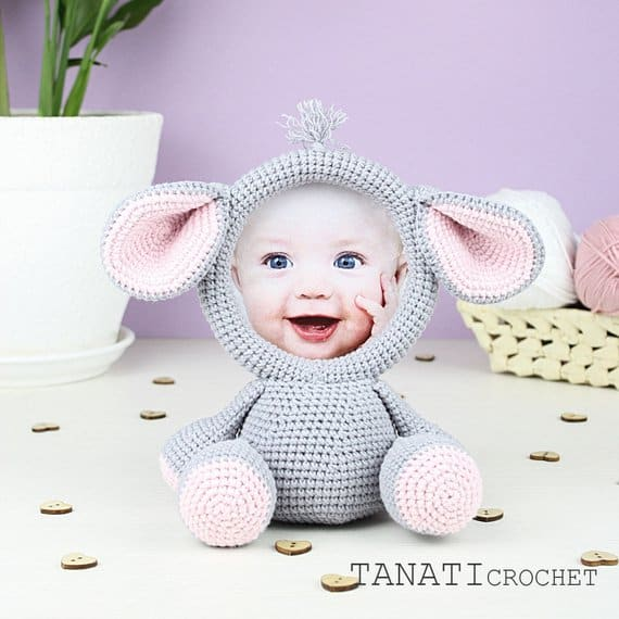 crochet animal photo frame free pattern