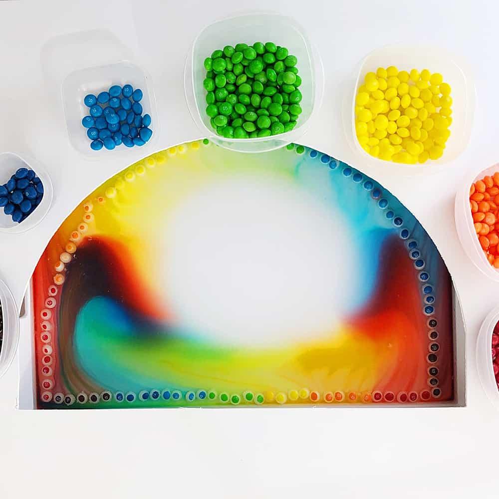 giant rainbow skittles science experiment hello wonderful