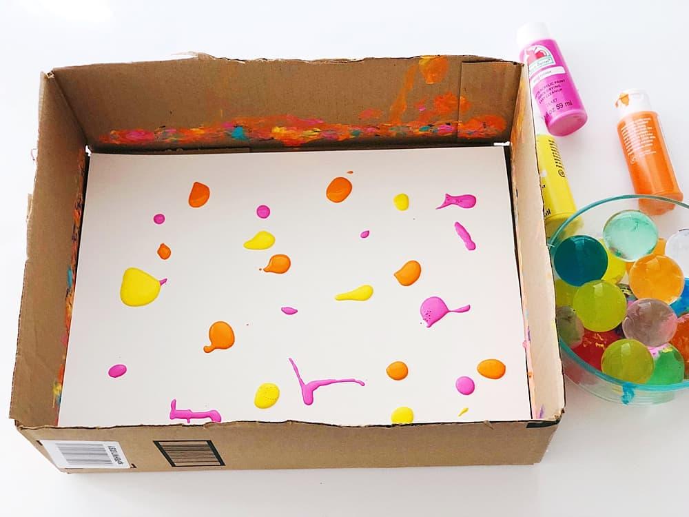 paint in cardboard box