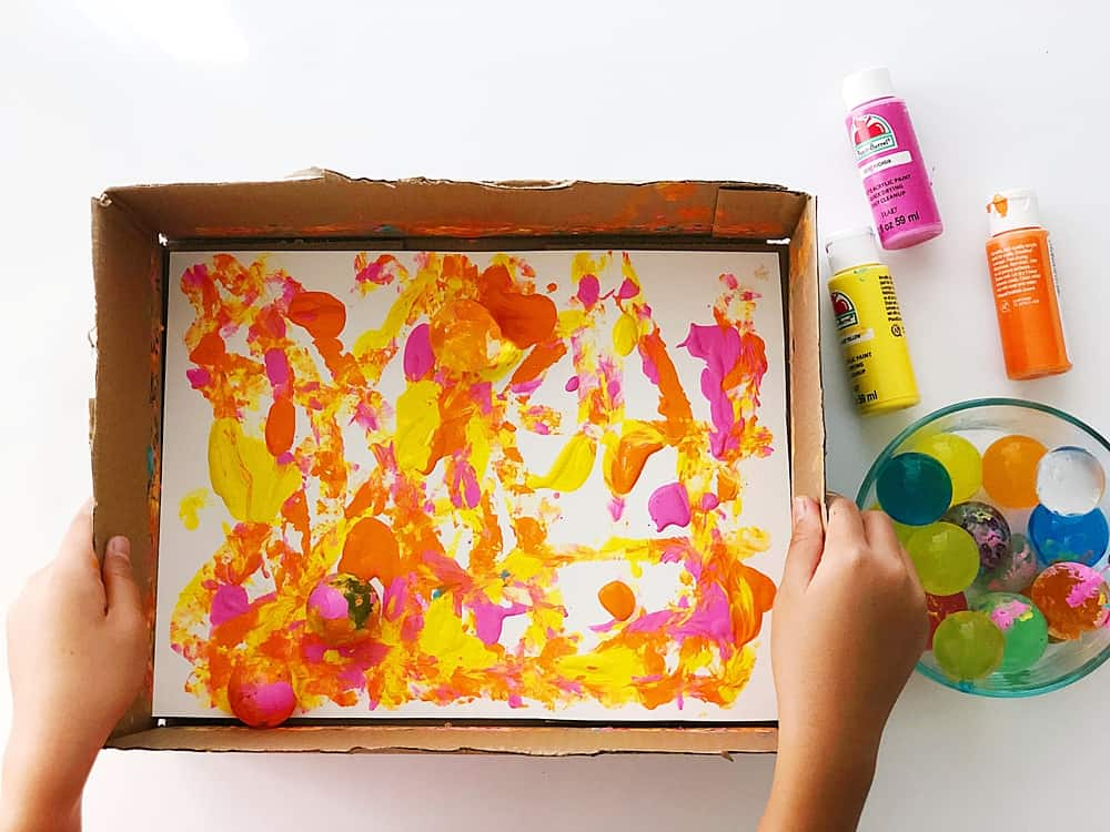 GIANT WATER BEAD PAINTING in cardboard box