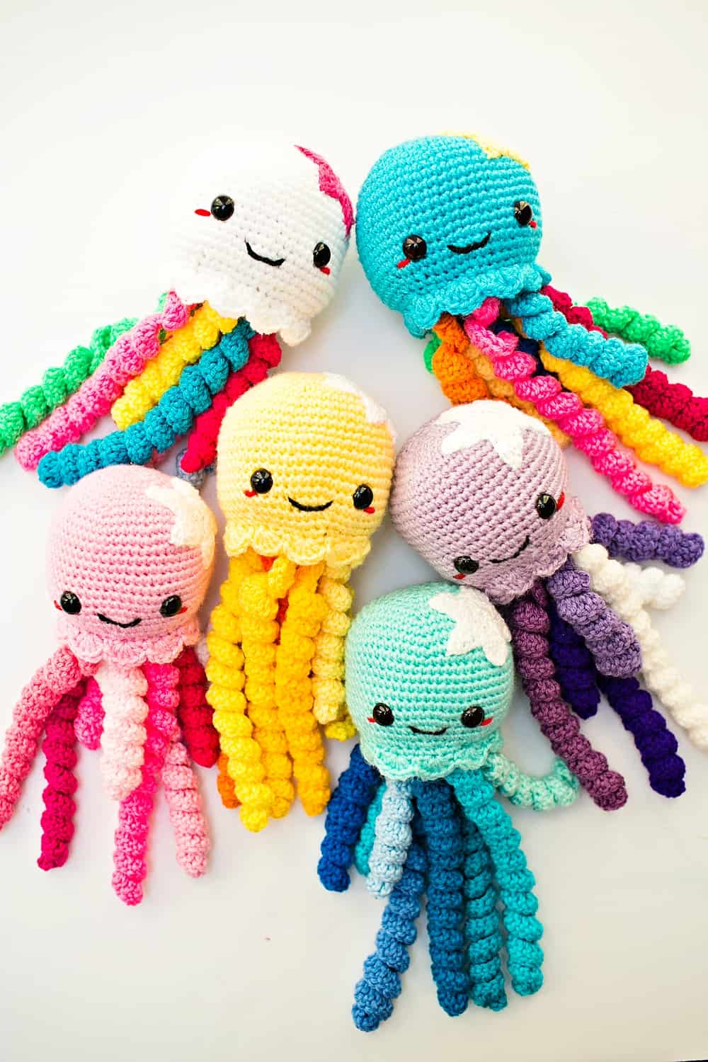 Amigurumi Crochet Sea Creature Animal Toy Free Patterns | Crochet ... | 1500x1000