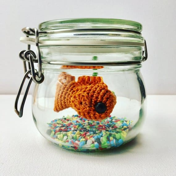 fish animal crochet toy pattern