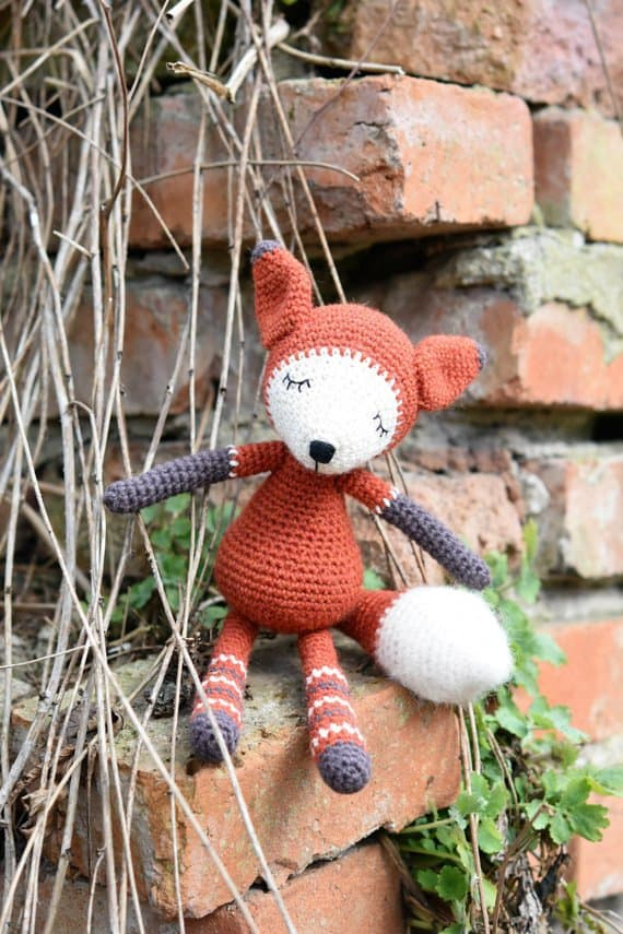 cute fox animal crochet toy pattern