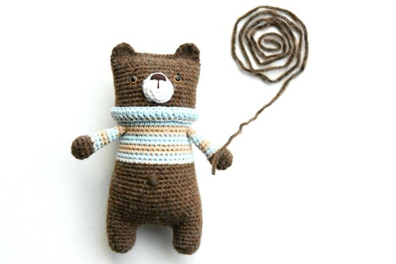 cute bear animal crochet toy pattern