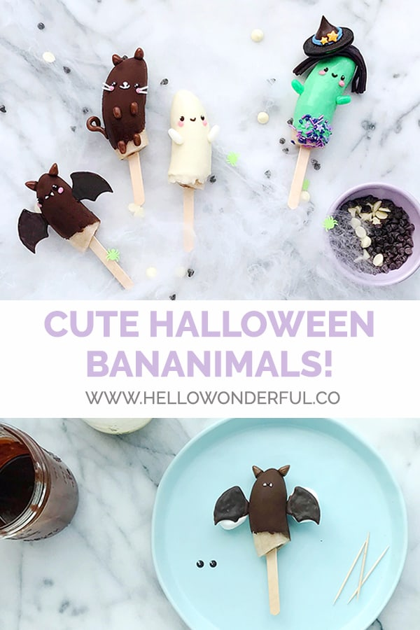 Make healthy, yummy Halloween bananimals for a spooky seasonal snack