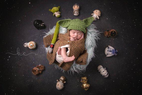 yoda star wars newborn costume