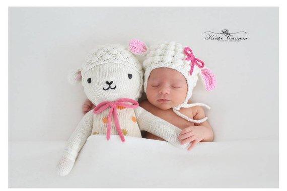 crochet newborn lamb costume