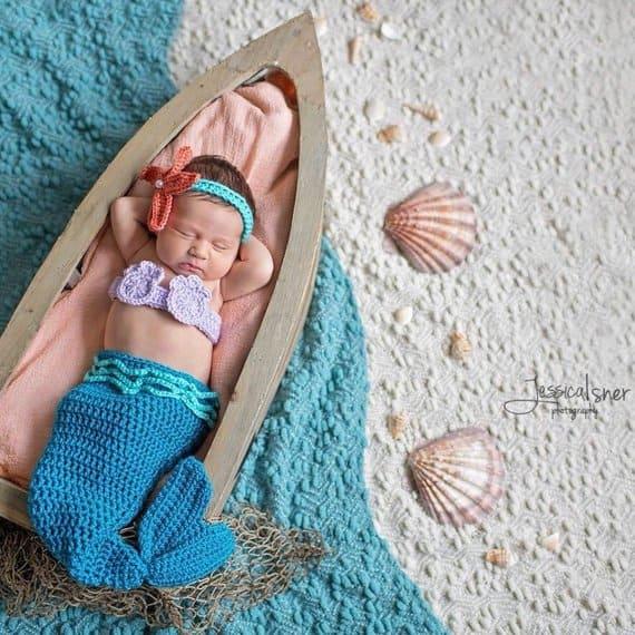 newborn baby mermaid costume