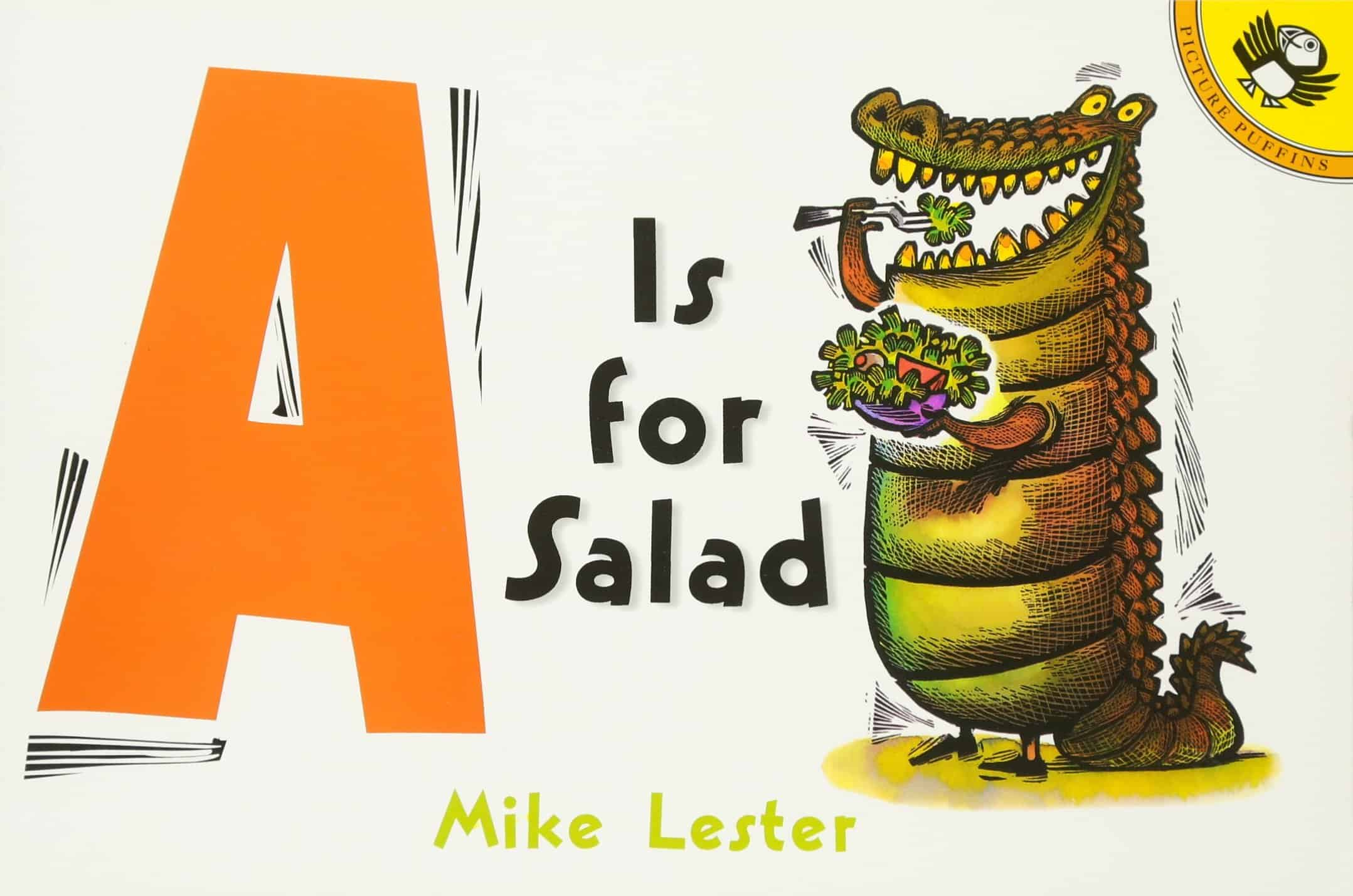 a is for salad alphabet book