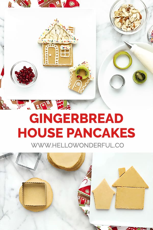 Make these festive Gingerbread Pancakes for a holiday breakfast or party surprise!