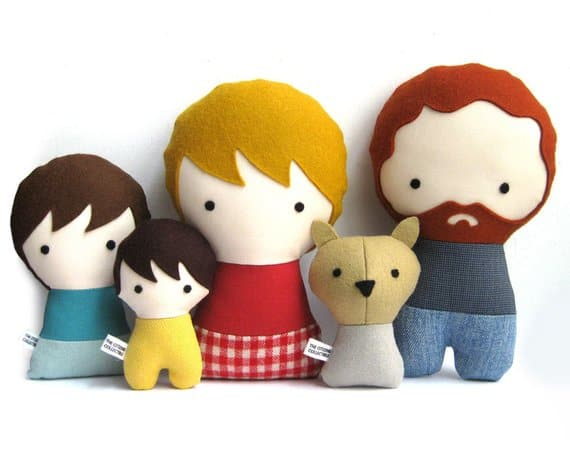 plush doll family portrait idea