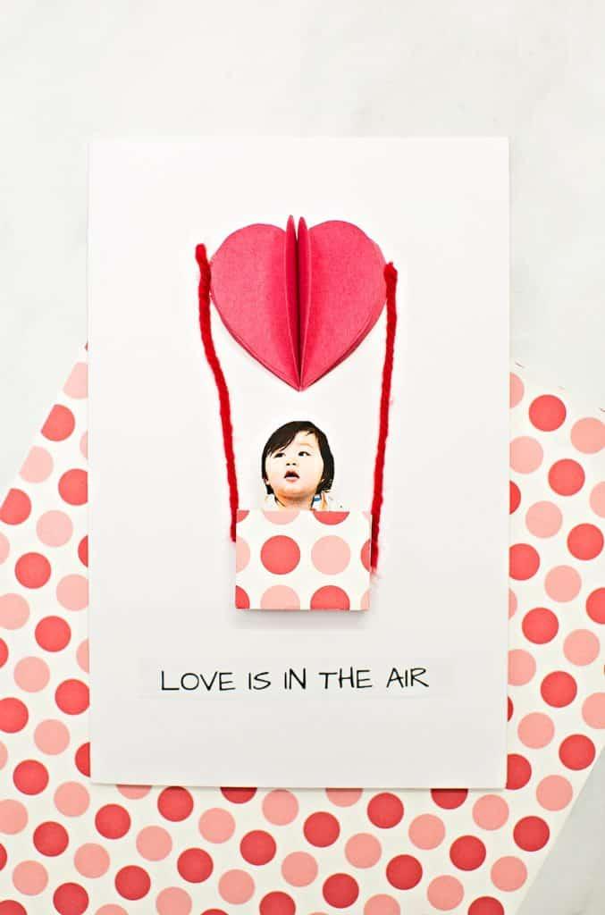 balloon valentine card DIY