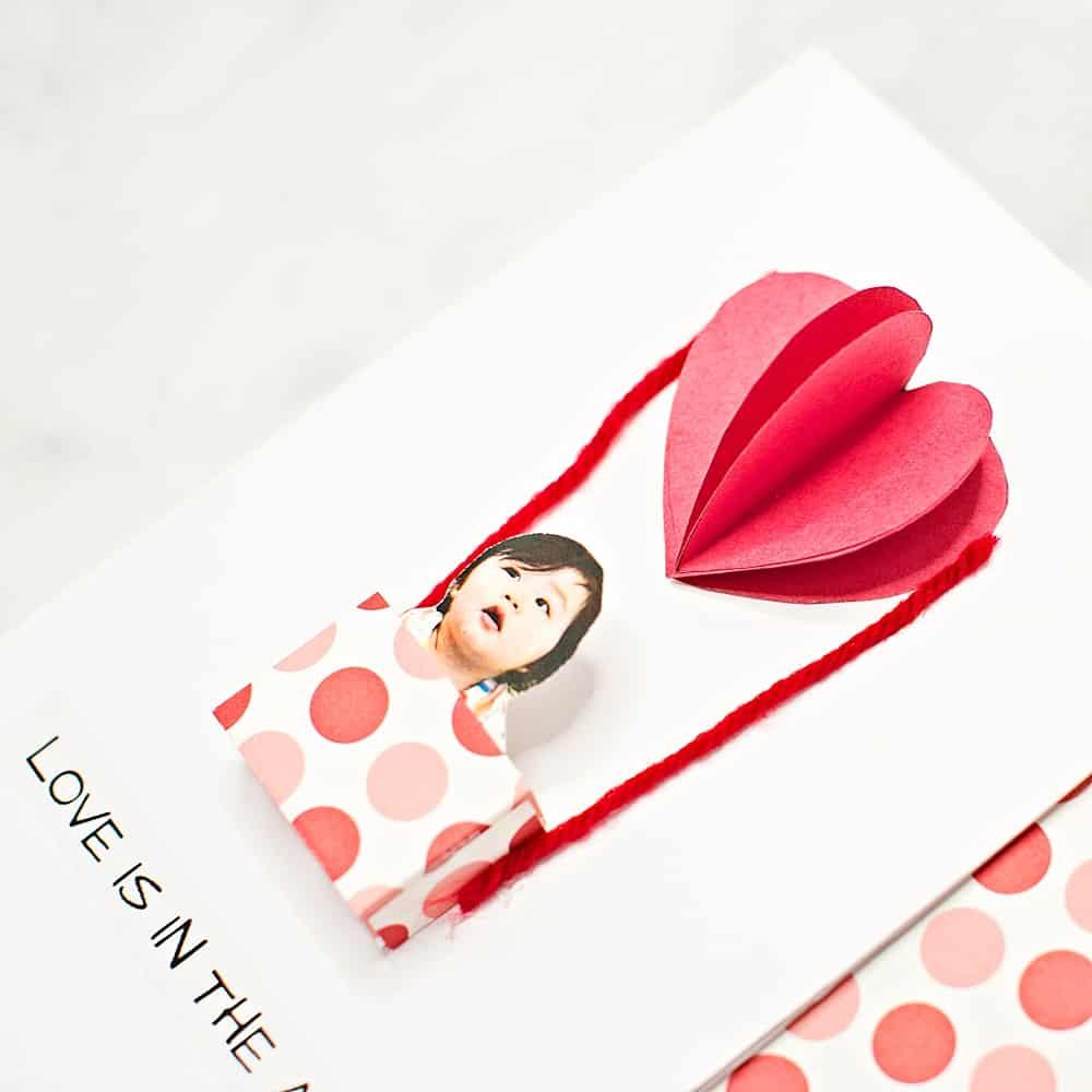 DIY Valentine's Day card for kids