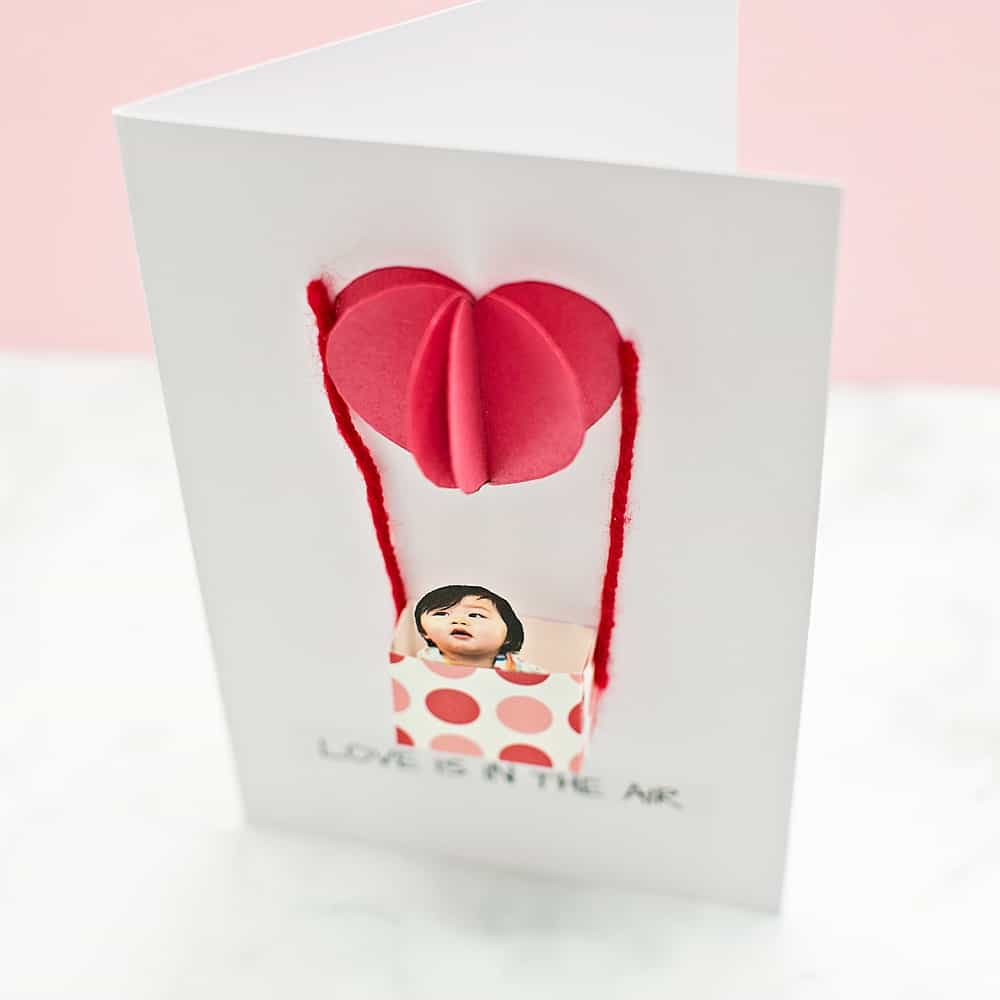 heart love is in the air card