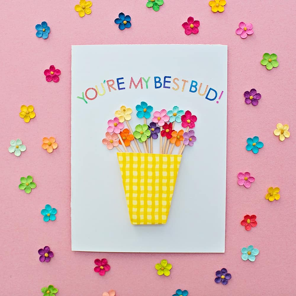 Diy Flower Vase Card Hello Wonderful