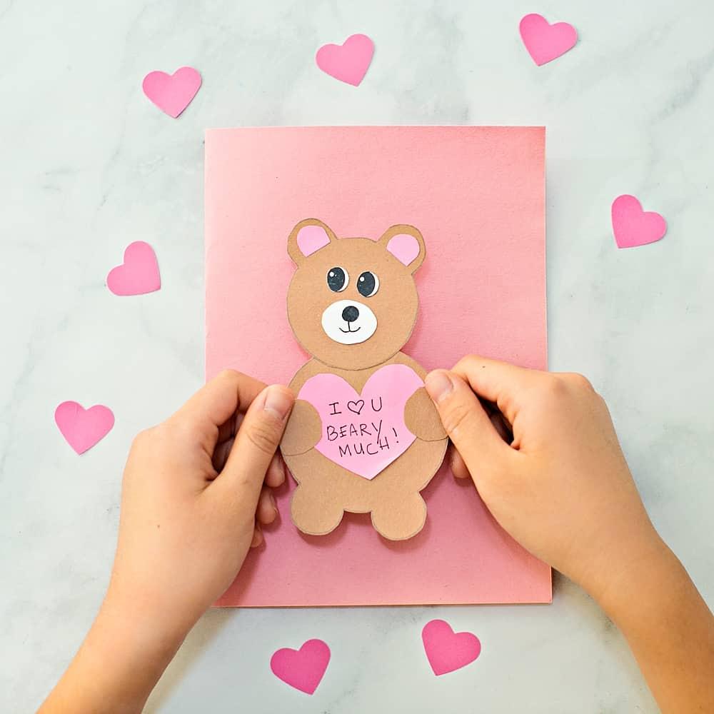 VALENTINE BEAR CARD