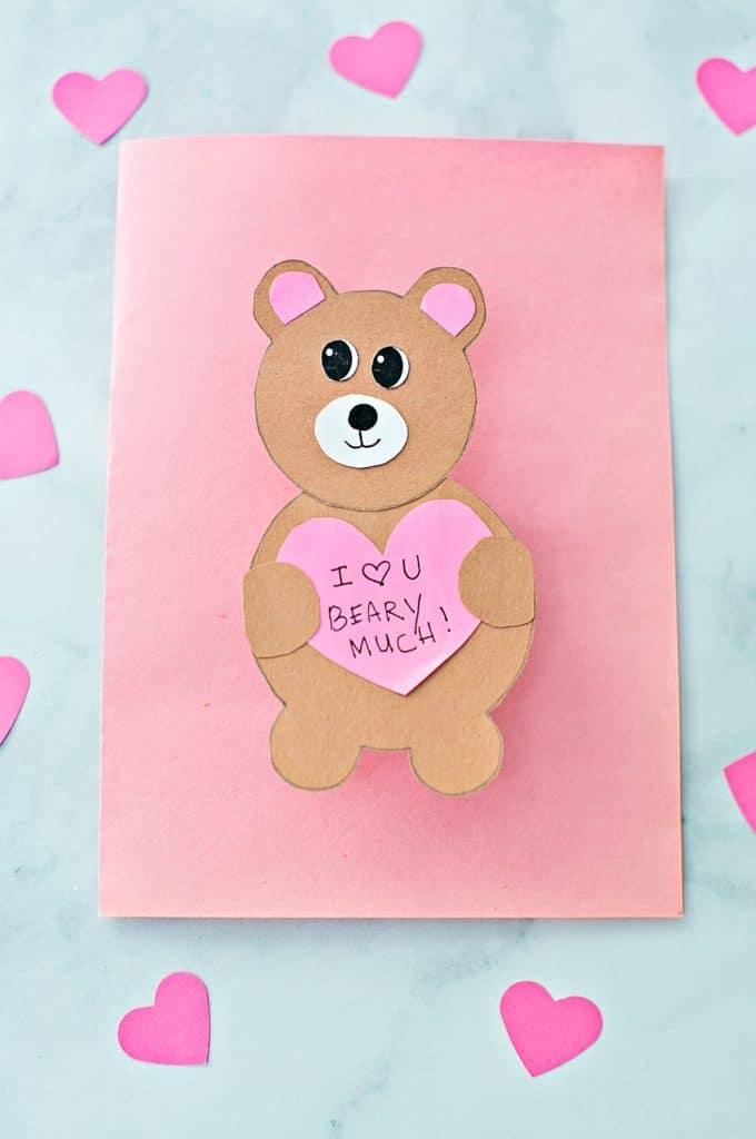 DIY VALENTINE BEAR CARD