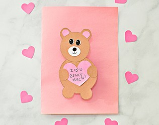 VALENTINE BEAR HEART CARD