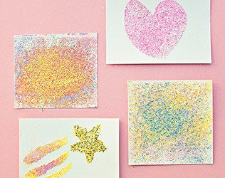CHALK PAINTING GLITTER ART