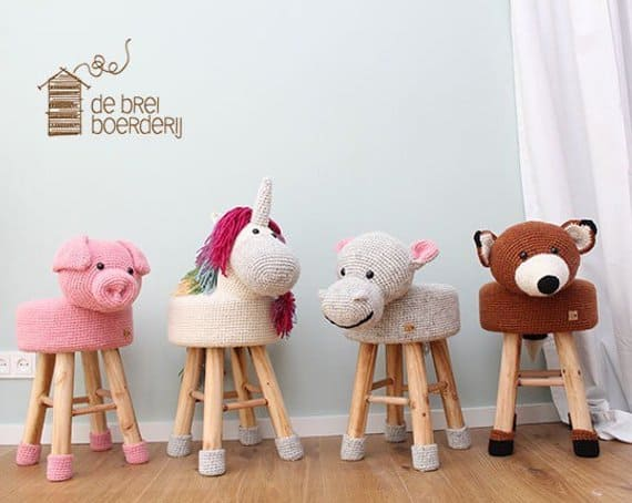 Crochet Animal Step Stools Hello Wonderful