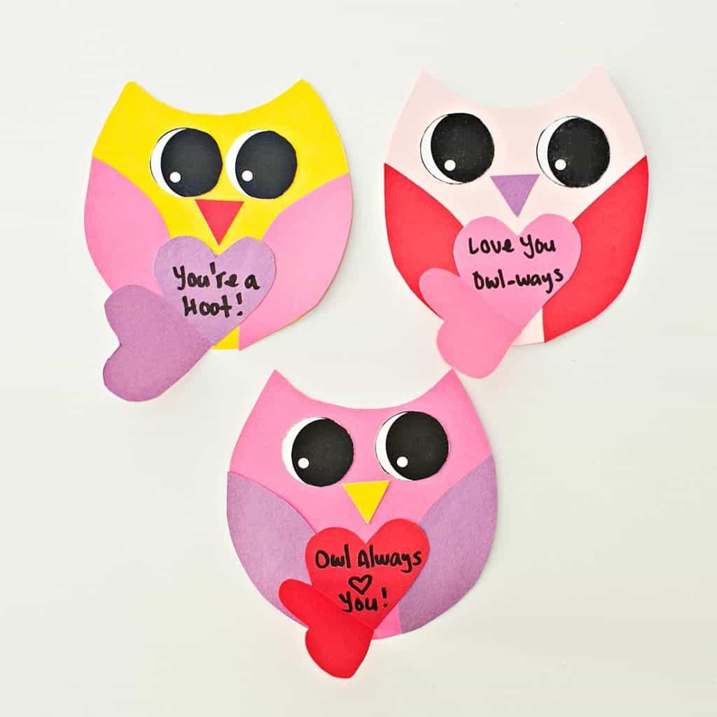 DIY OWL VALENTINE CARDS