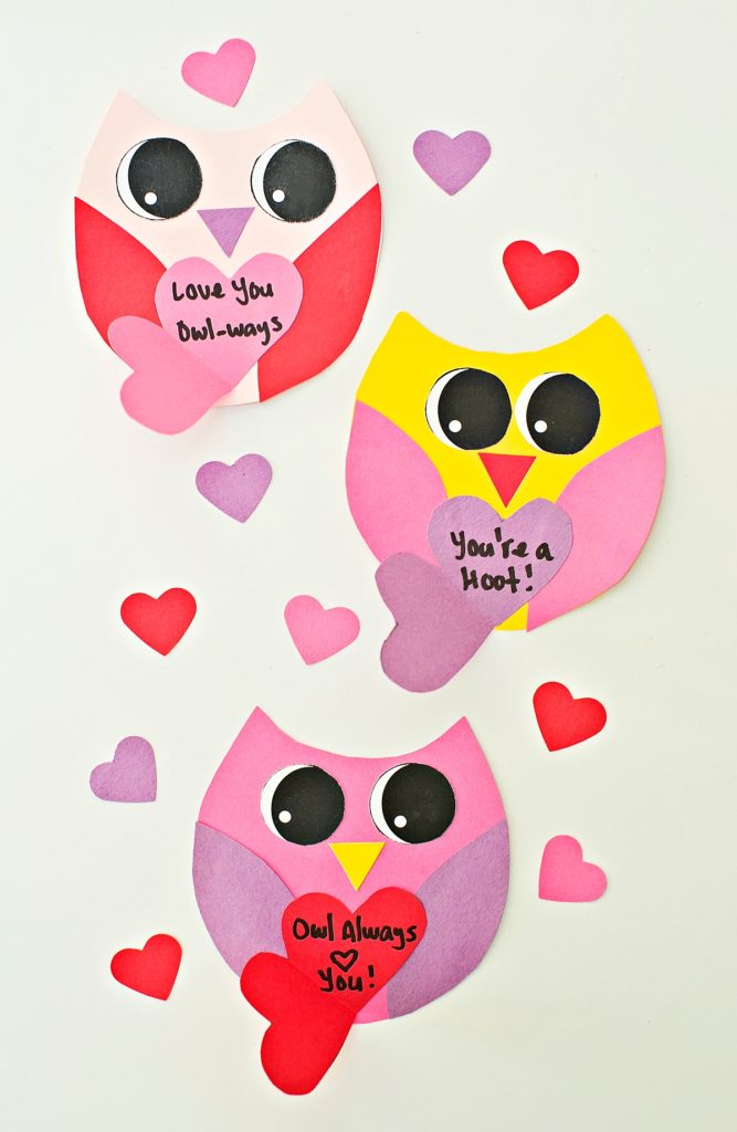trio of DIY owl cards