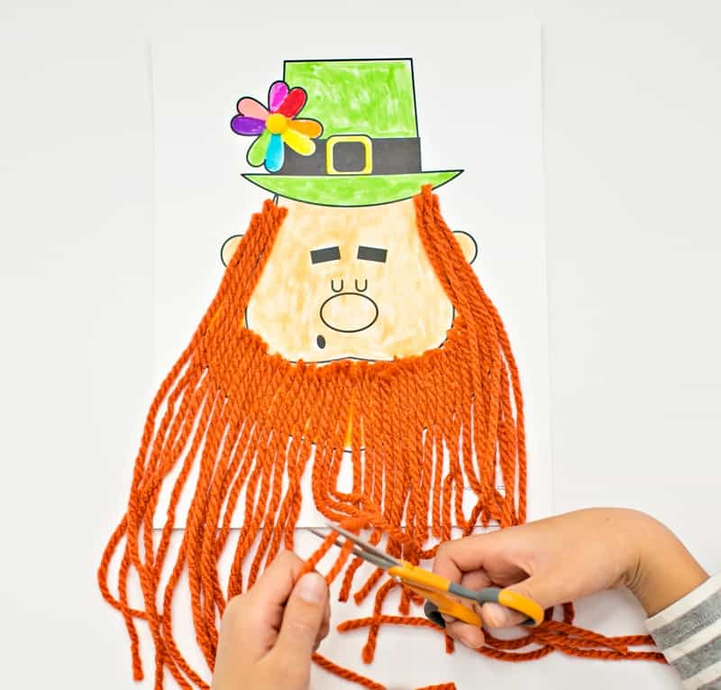 photograph about Beard Shaping Template Printable called Slender THE LEPRECHAUN BEARD CRAFT - Good day Excellent