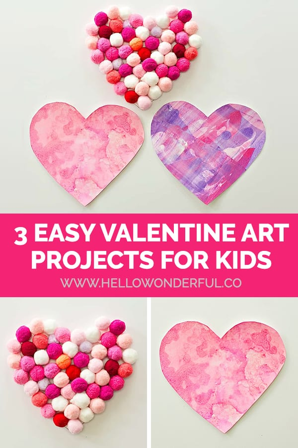 3 Easy Valentine Art Projects for Kids