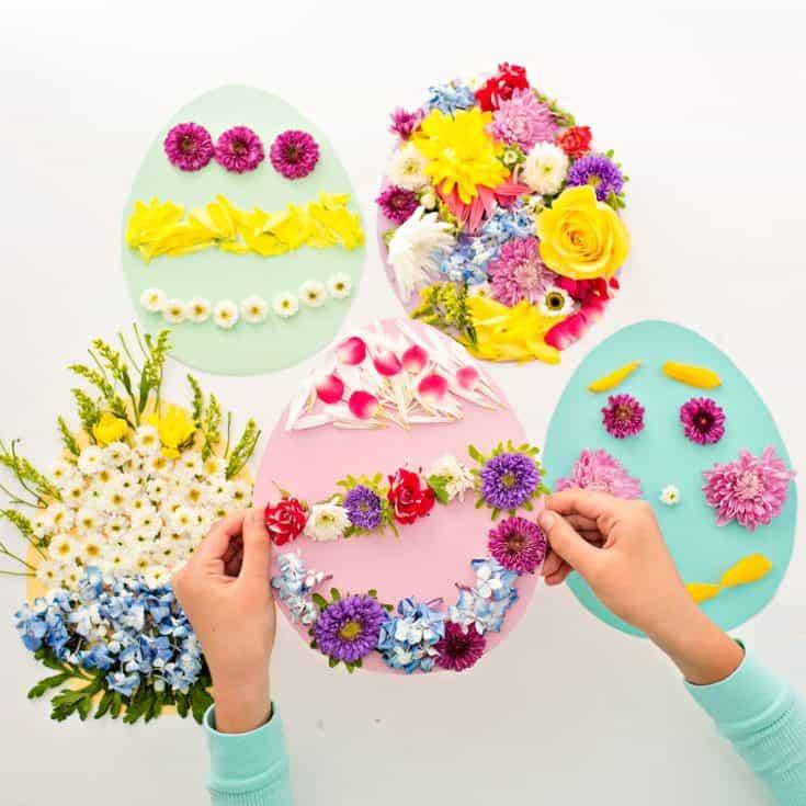 FLOWER EASTER EGG ART