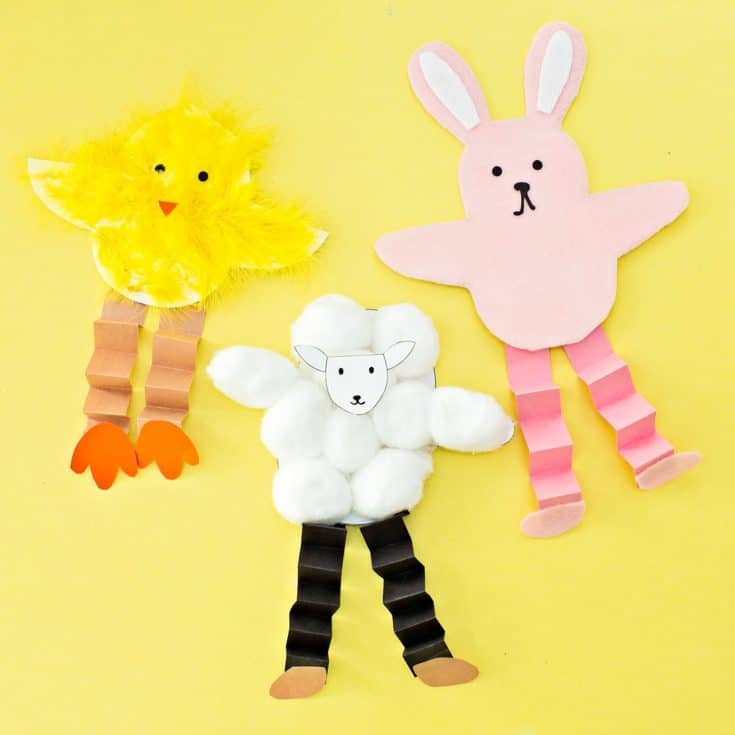 EASTER BUNNY CHICK AND SHEEP CRAFT