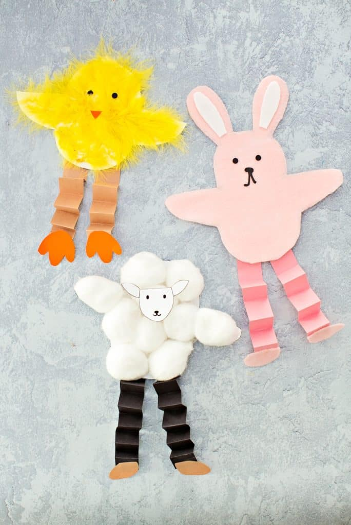 photo regarding Sheep Craft Printable known as EASTER BUNNY CHICK AND SHEEP CRAFT - Hi Terrific