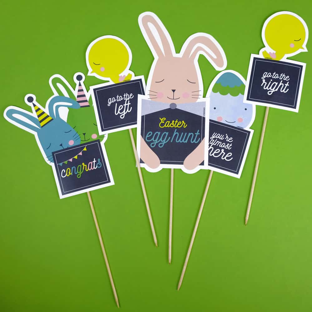 Create an Easter hunt game with this adorable free printable!