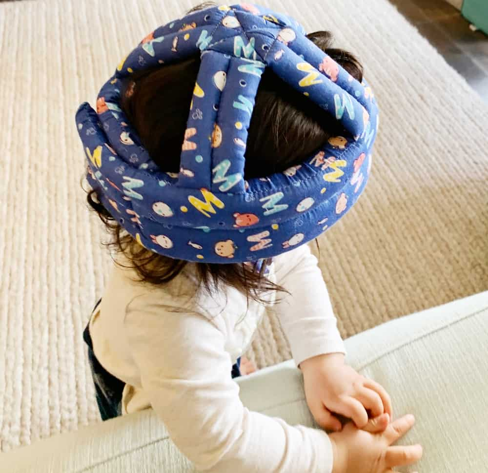 BABY WALKING HELMET FOR THOSE FIRST STEPS