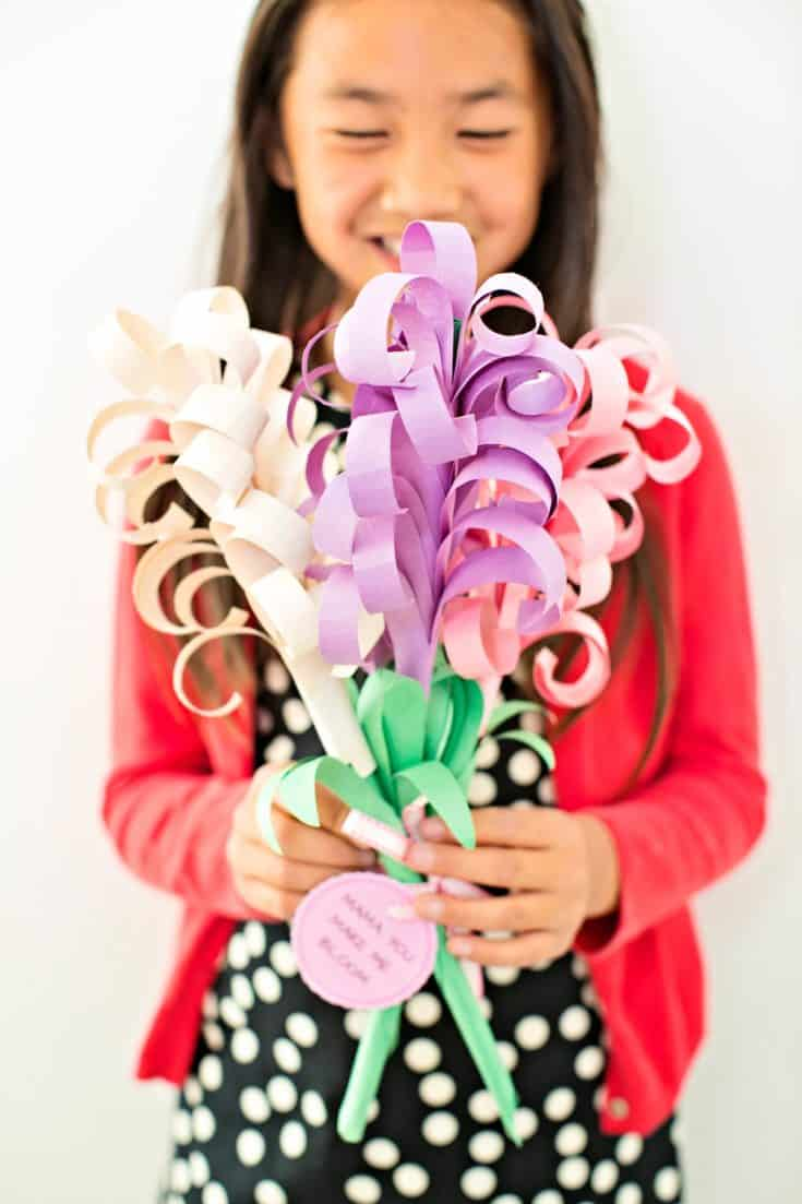 GIANT DIY PAPER HYACINTH FLOWER BOUQUET
