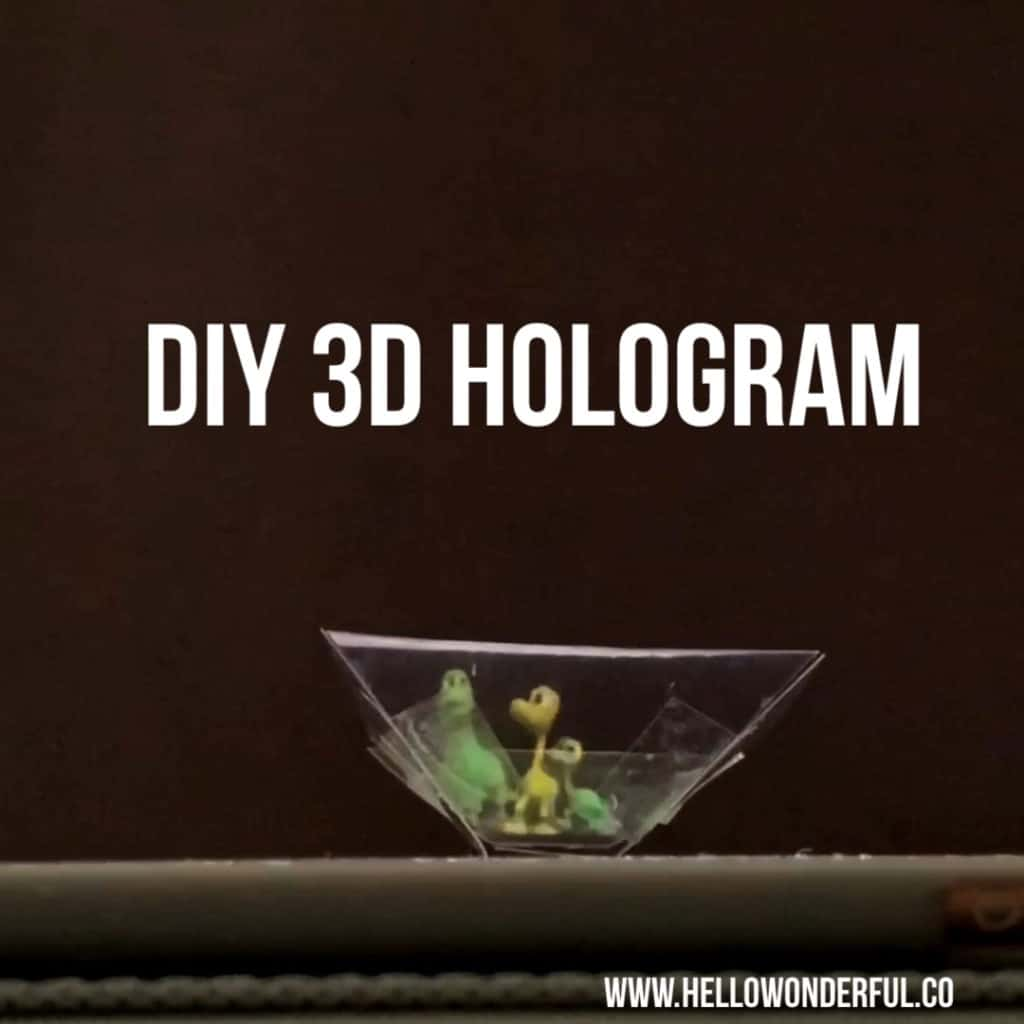 photo relating to Printable Holograms identified as HOW In the direction of Generate A 3D HOLOGRAM - Good day Terrific
