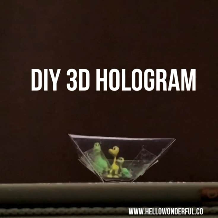 HOW TO MAKE A 3D HOLOGRAM