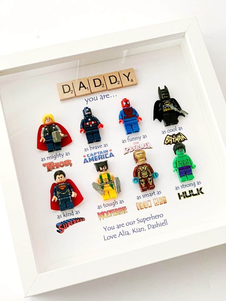 DAD SUPERHERO FRAME FATHER'S DAY GIFT