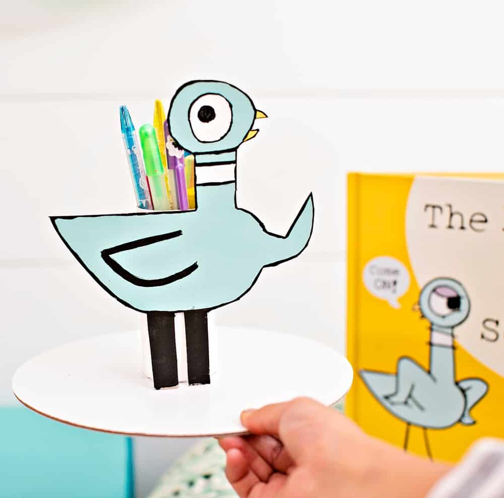 The Pigeon HAS to GO to School! book pencil holder
