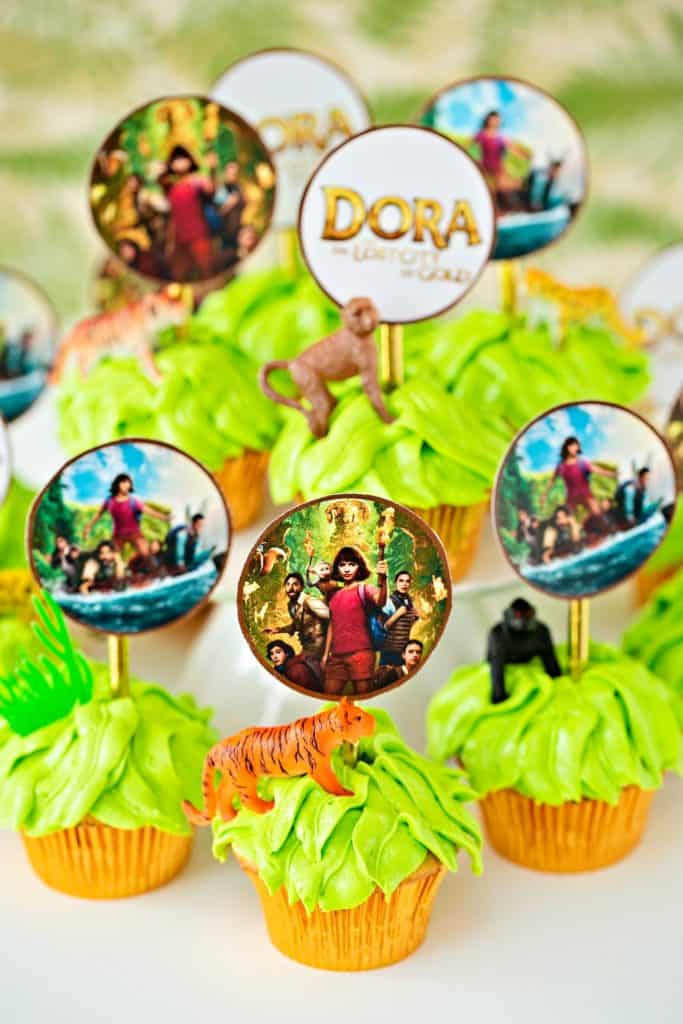 Dora and the Lost City of Gold Jungle Cupcakes