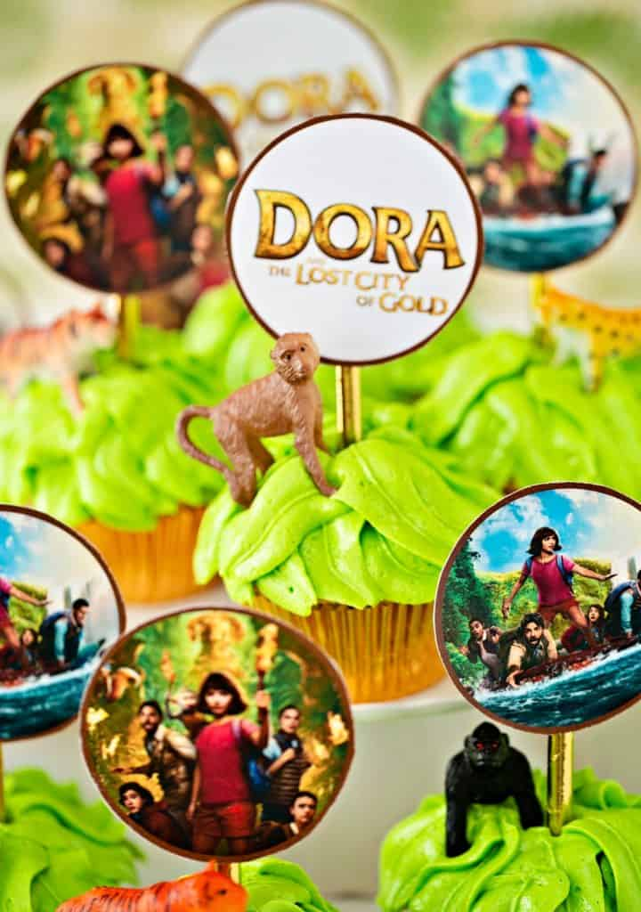 Dora Lost City of Gold cupcakes