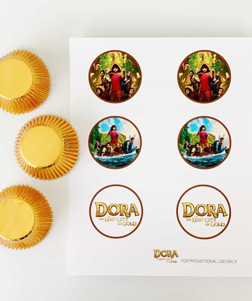 Dora the Explorer free printable cupcake toppers