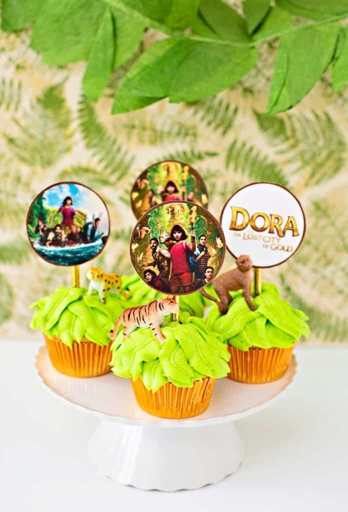 Dora Lost City of Gold cupcakes jungle theme