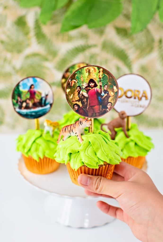 Dora Lost City of Gold cupcake jungle party