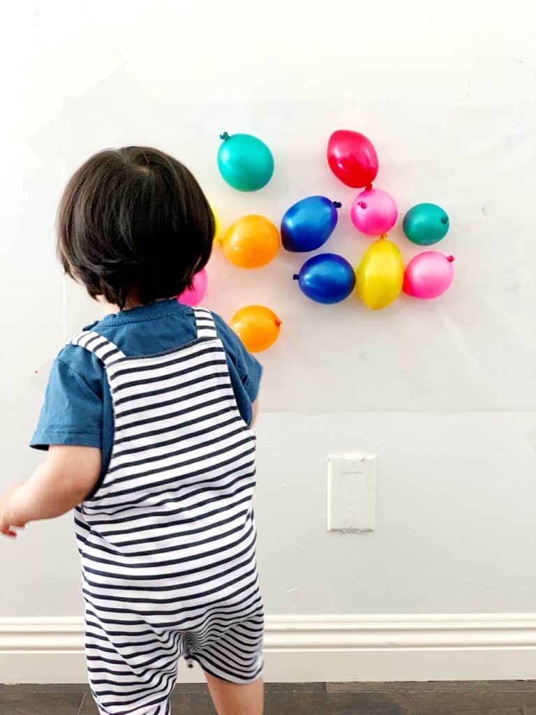 balloon sensory activity babies toddlers