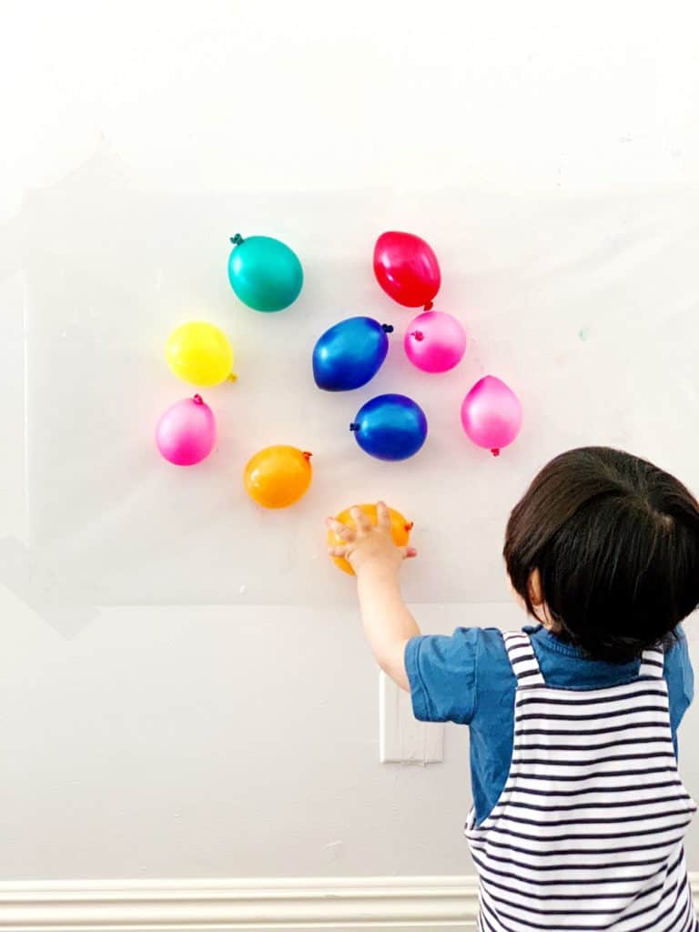 Balloon Sticky Wall Sensory Activity Babies Toddlers