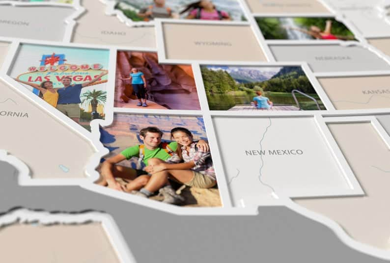 CAPTURE YOUR FAMILY TRAVELS WITH THIS 50 STATES TRAVEL PHOTO MAP