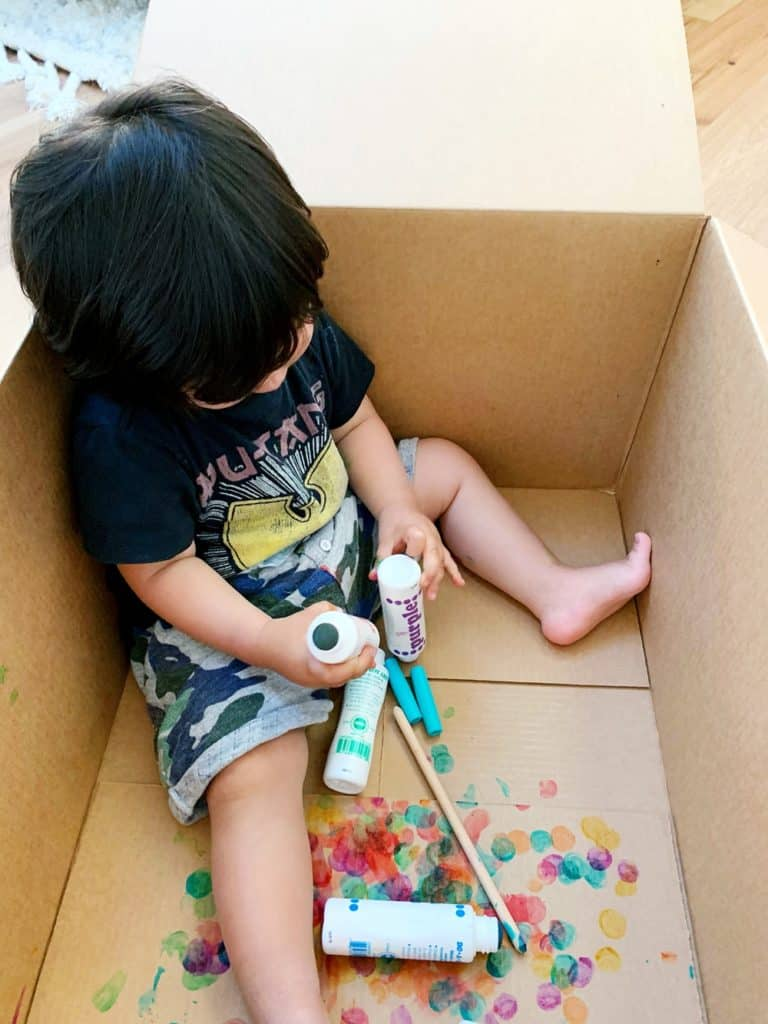 dot markers painting toddlers