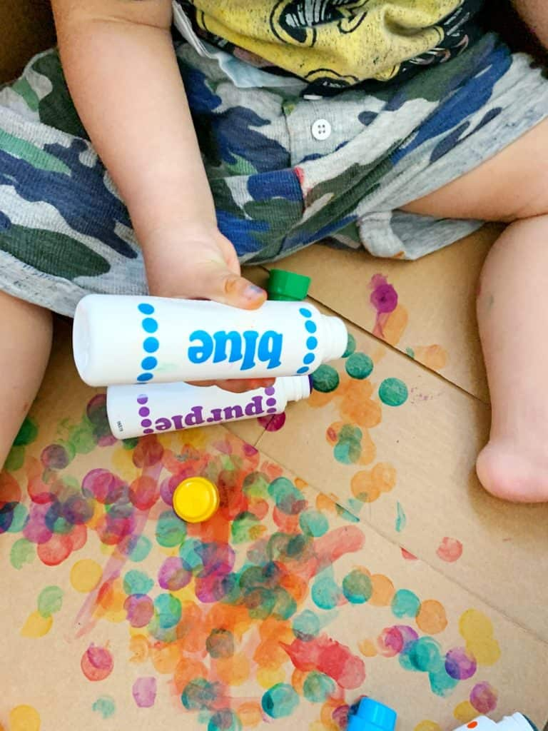 dot markers painting for toddlers