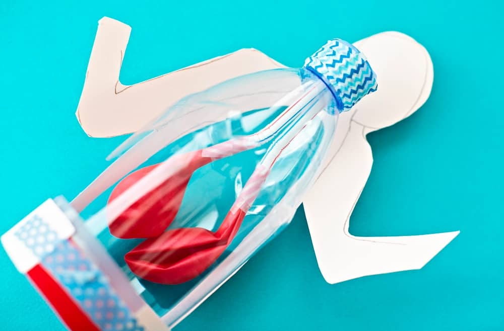Lung Anatomy in a Bottle Activity for Kids