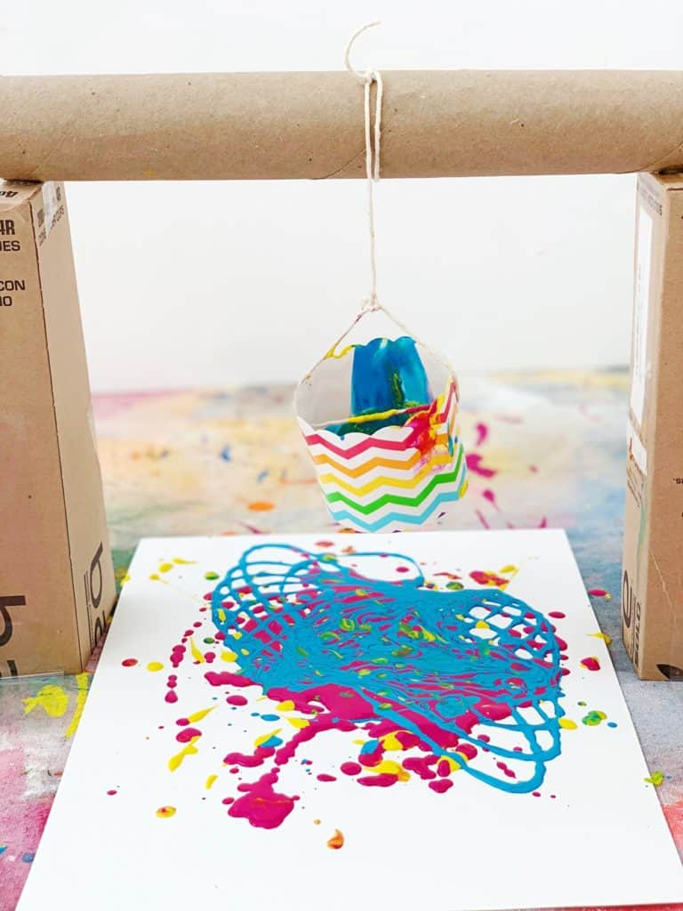 How to Make Pendulum Painting With Kids